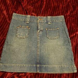 EUC jean skirt